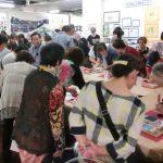 山田泰幸さん消しゴム版画体験会に120人超