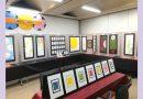 帯広図書館で十勝の消しゴム版画愛好家による作品展開催